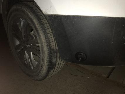 Заправочный люк на Установка ГБО на Hyundai Tucson 2.4 GDI (G4KJ)